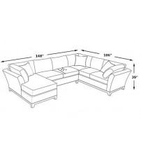 L Shaped Sofa L608